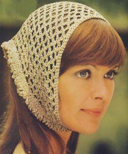 Free Crochet Pattern For Head Scarf : 153 curated Crochet Kerchief Headscarf ideas by judysbear ...