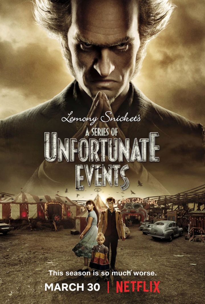 A Series Of Unfortunate Events Season 2 Trailer Poster Promises A Much Worse Season Una Serie De Eventos Desafortunados Una Serie De Catastroficas Desdichas Series De Netflix