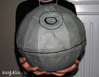 Turn a Soccer ball Pinata into death star for star wars theme party again love it.
