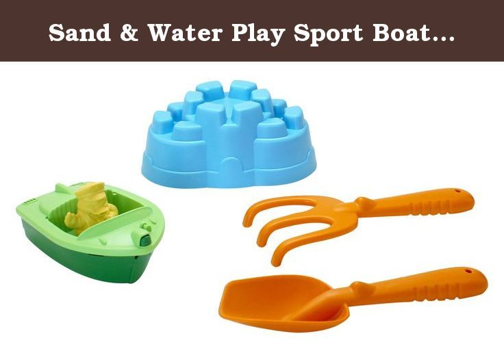 Sand & Water Play Sport Boat w. Rake and Shovel. Sand, sun, and a whole lot of Good Green Fun! The Green Toys Sport Boat, Castle Mold and Sand Tools are the perfect accessories for summer adventures. Made in the USA from 100% recycled plastic, these toys are ready for action, and are just the right size to drop in a diaper bag or beach tote.