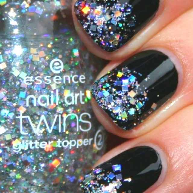 Black with sparkles