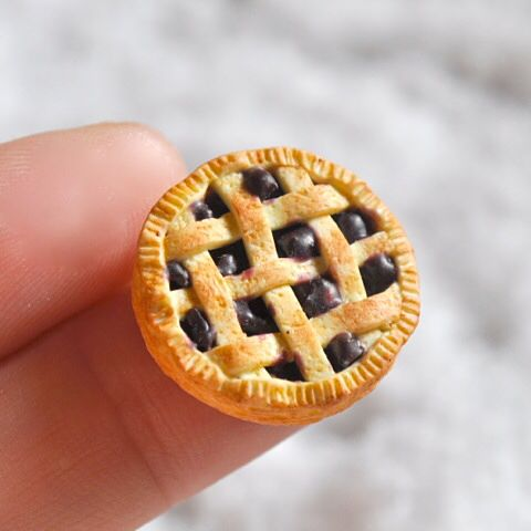 Miniature blueberry pie.