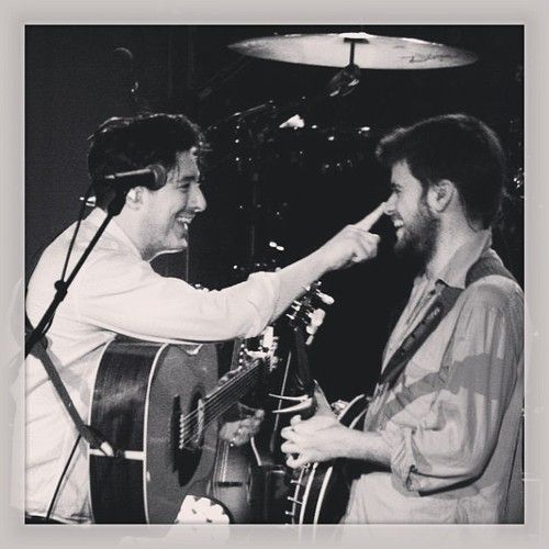 I give you... Marcus Mumford booping Winston Marshall's nose.  YOU'RE WELCOME.