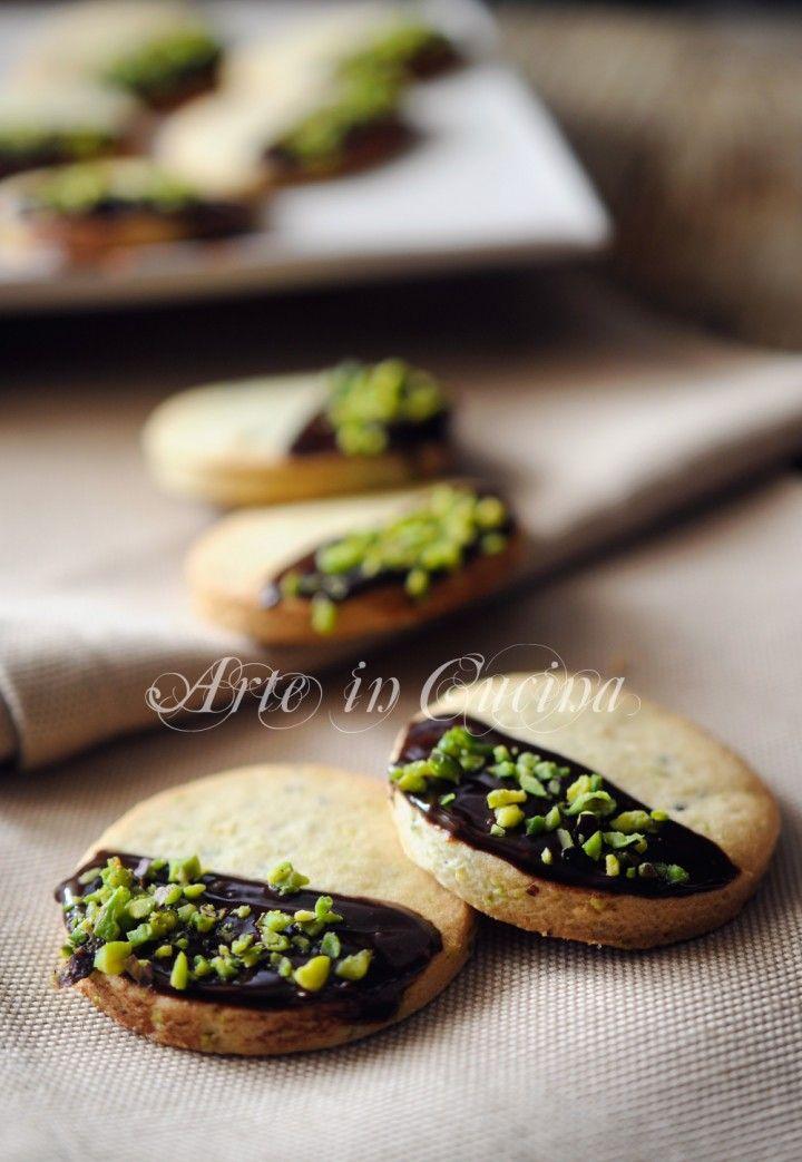 Frollini al pistacchio e cioccolato facili e veloci vickyart arte in cucina