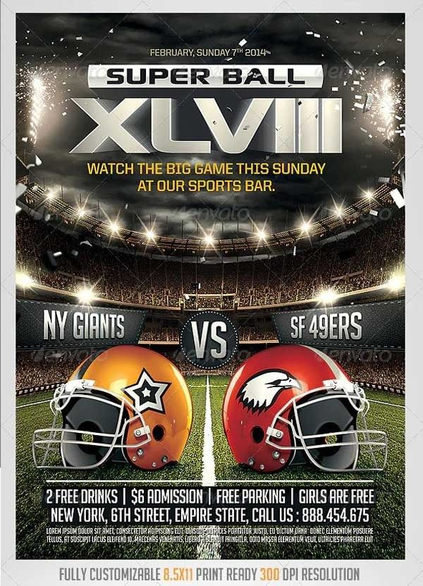 Free Football Flyer Templates Microsoft Word In 2020 Flyer