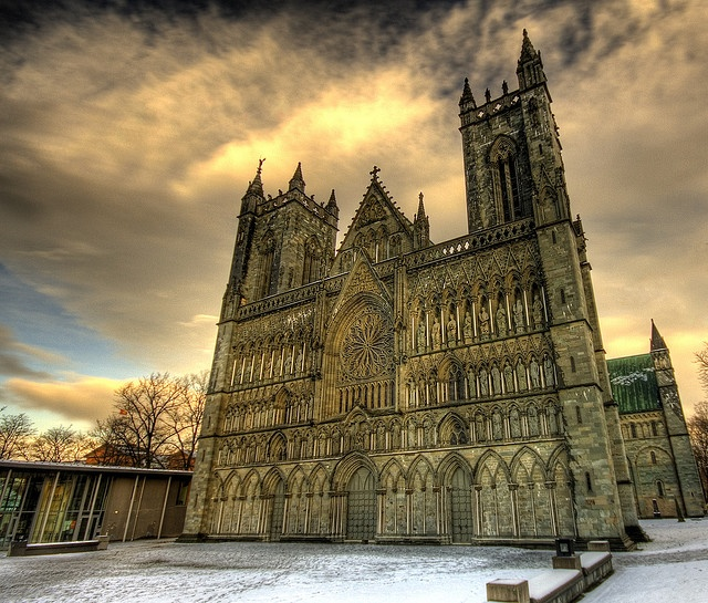 The beautiful dome Nidarosdomen in Trondheim, the beautiful city I live in, in the heart of Norway.