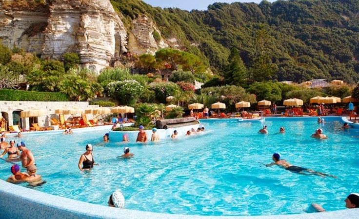 Ischia Island, Italy   Looking for a trip to the most awesome spa ever? Located in the Tyrrhenian Sea, this volcanic island has a lot to offer including thermal spas, volcanic mud, and hot springs.