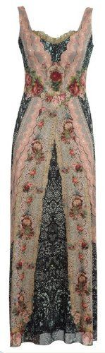 Michal Negrin Special Occasion Long Lace Like Pattern Dress Garnished with Victorian Floral Elements, Scalloped Edge Lace Accents, Glitter and Swarovski Crystals Michal Negrin, http://www.amazon.com/dp/B00867ITPW/ref=cm_sw_r_pi_dp_JVdHqb0PMR61A
