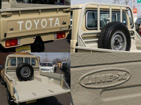 ランクル79 荷台を傷・サビ・凹みから守るスプレーオンベッドライナーLINE-X塗装!今回はボディー同系色で施工しました♪ Toyota Landcruiser70 GRJ79K