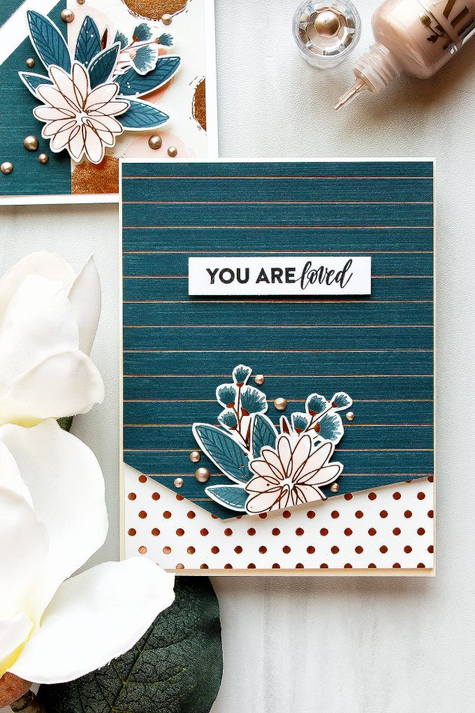 Simon Says Stamp | Brushstroke Messages Card Kit. Handmade cards by Yana Smakula