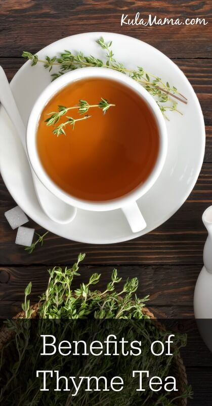 Thyme tea is an immune-boosting powerhouse. Find out about the health benefits of thyme and how you can make this healing tea regularly for better health. | Kula Mama