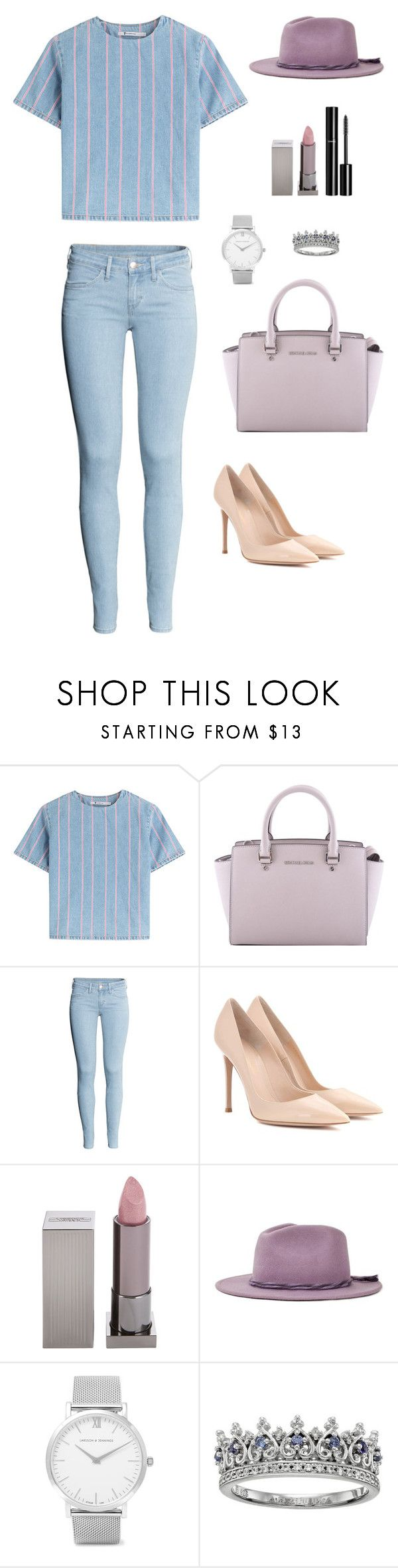 """Untitled #286"" by bajka2468 ❤ liked on Polyvore featuring T By Alexander Wang, MICHAEL Michael Kors, H&M, Gianvito Rossi, Lipstick Queen, Chanel, Brixton and Larsson & Jennings"