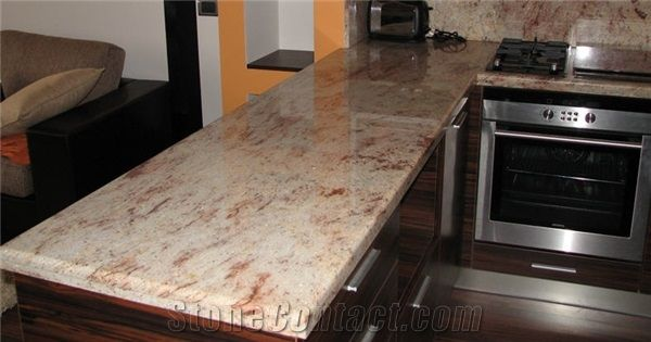 Shivakashi Pink Granite Kitchen Counter Top Pretty Stone