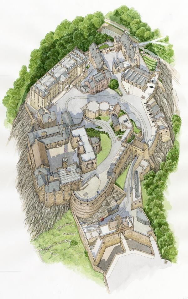 A helpful map of Edinburgh Castle. More details on the website http://www.edinburghcastle.gov.uk/ #Scotland #history #daysout