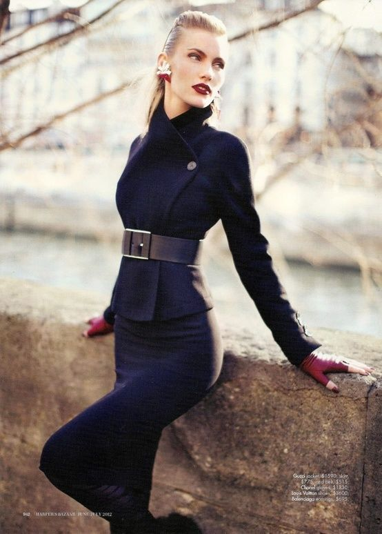 Gucci jacket, skirt and belt..  Chanel gloves <3 Fashion Style