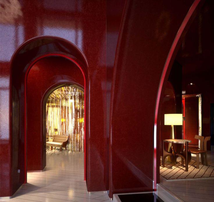 Gorgeous shiny walls - Hotel du Louvre, Paris - Tristan Auer #luxury #interior #design #hotel
