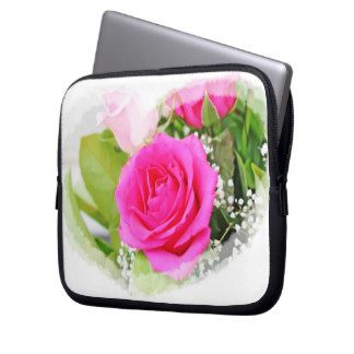 Hot Pink Rose Laptop Cover Laptop Sleeve