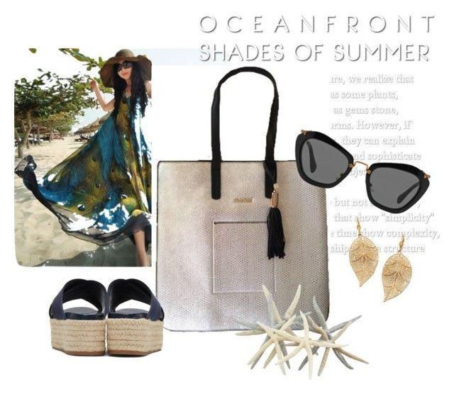"""¿Listas para la playa? Maxi bag plata disponible. #letsgoshopping #crabtree_ch"" by crabtreechiapas on Polyvore featuring moda, Palm Beach Jewelry y Miu Miu"
