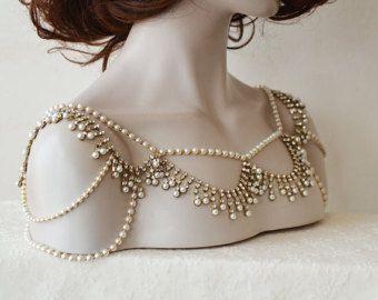 robe paule accessoire robe de mariage maries paulettes strass et perle paule - Accessoir Mariage