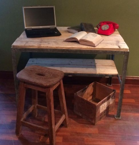 Desk | refunked.com | Vintage Industrial Furniture | Upcycled | Repurposed | Warehouse Home Design Magazine