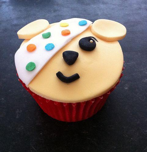 Children in Need Pudsey Bear Cupcake