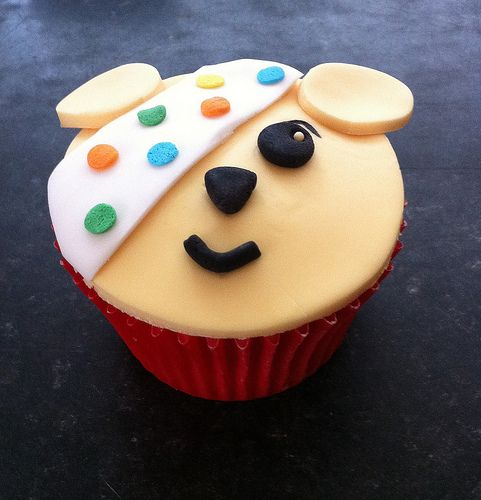 Children in Need Pudsey Bear Cupcake