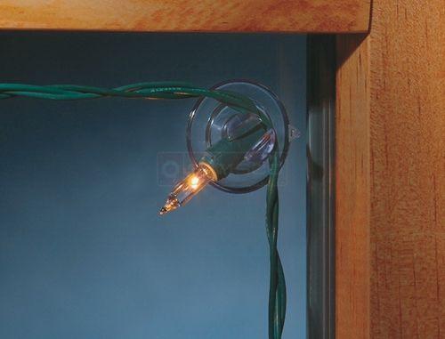 #HolidayTip use Mini Light Holders to hang mini lights in windows!      Christmas Lights - Vinyl Windows - Wood Windows - Decorate