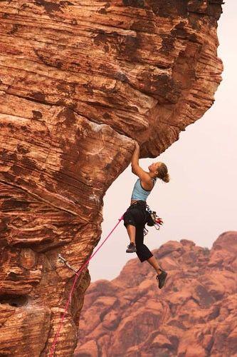 Climbing over hang heck ya