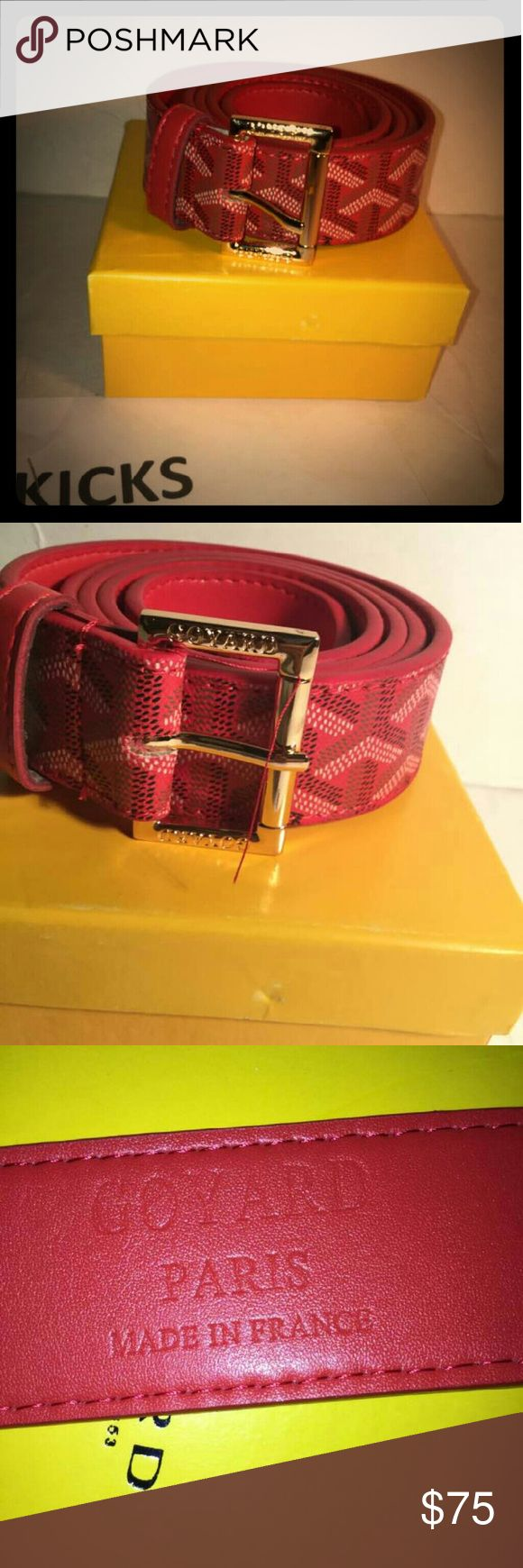 Goyard belt TOP QUALITY COMES WITH ORIGINAL BOX SHIPS OUT SAME DAY! Here to make people stop and stare at you !???? Offer price Accessories Belts