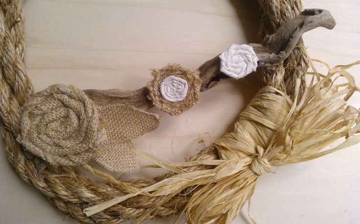 wreath rope burlap