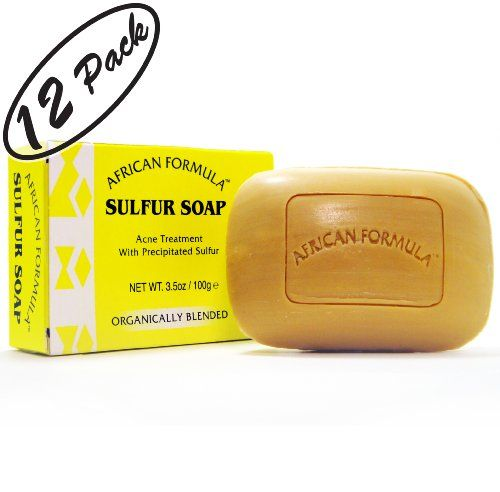 face cleanser Sulfur Soap Jabon de Azufre (12-PACK) Acne Treatment Facial Soap (3.5oz) >>> More info could be found at the image url.