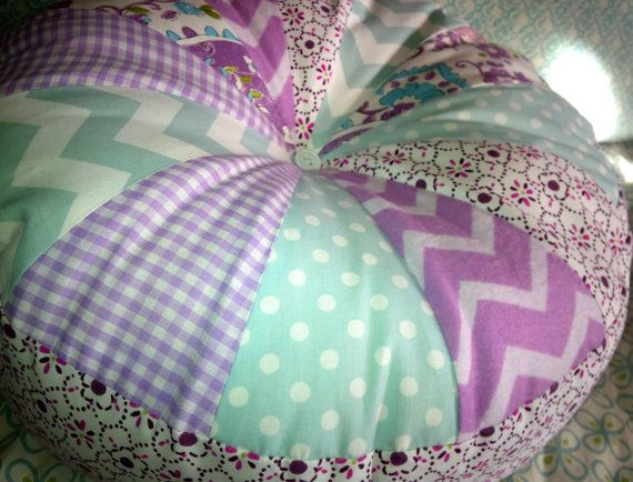 PILLOW made w Beautiful BROOKLYN Pottery Barn Kids fabrics Lavender Paisley for girls baby nursery