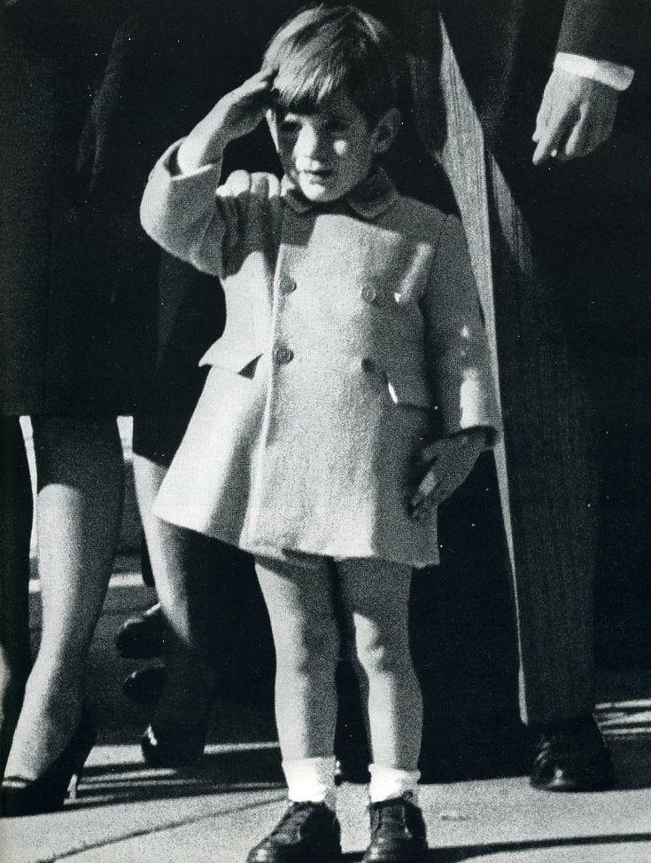JFK Jr. (John John) salutes his father's casket on November 25, 1963...his 3rd birthday.