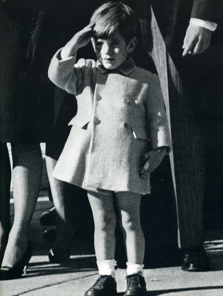 JFK Jr. (John John) salutes his father's casket on November 25, 1963...his 3rd birthday.