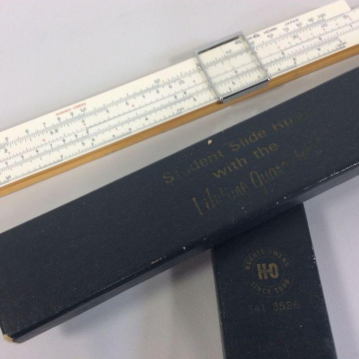 Slide Rule Student Hughes-Owens Sun Hemmi Japan Model 341-3526 Case Vintage