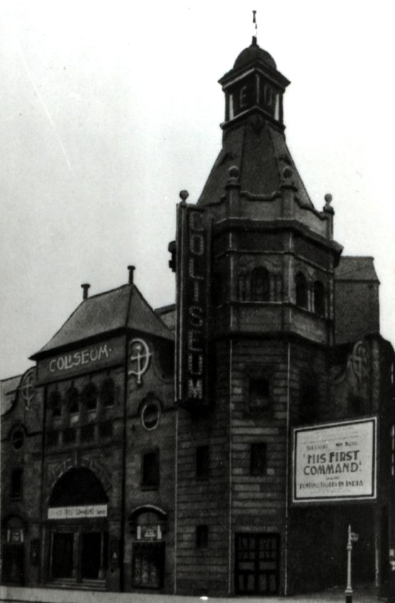Glasgow Coliseum in Eglinton Street. Opened in 1905 as a music hall (vaudeville theater in US English) this is the original frontage.