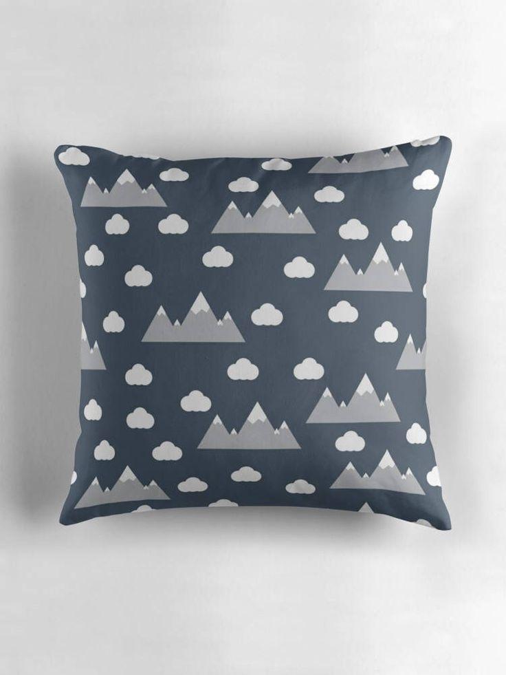 Blue clouds cushion, Mountain cushion, Mountains nursery decor, Blue nursery decor,Blue nursery cushion, Dark blue cushion, navy blue sofa by ShadowbrightDesigns on Etsy https://www.etsy.com/uk/listing/563850511/blue-clouds-cushion-mountain-cushion