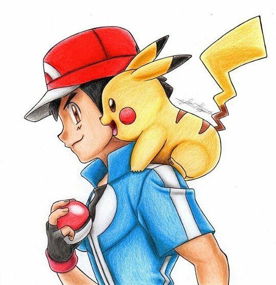 Nice drawing of Pikachu and Ash by @juan.alczr5 Go give him a follow…