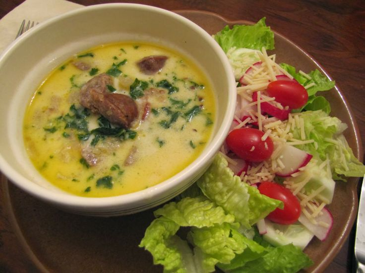 LOW CARB  Sausage & Kale Soup
