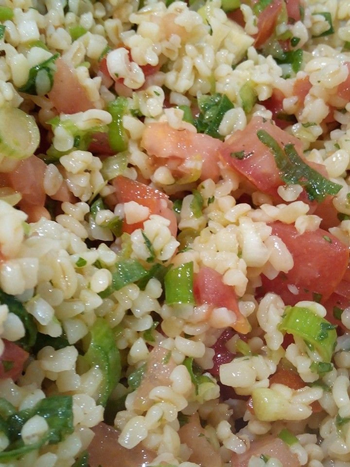 Bulgur Wheat Salad! Expand pin for recipe!