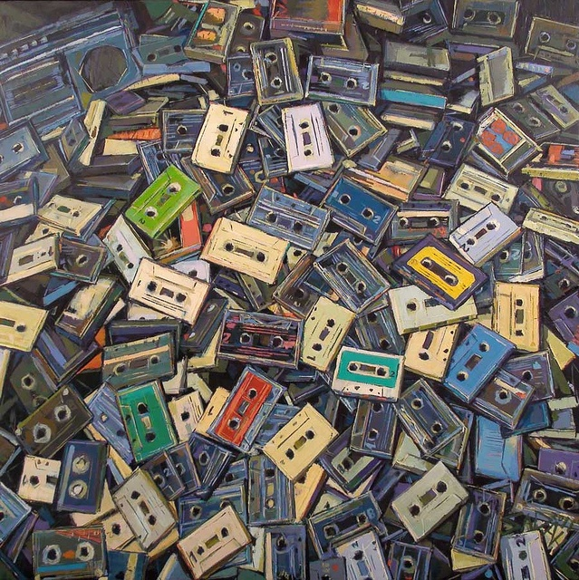 Accumulated Cassette Tapes by accumulatedobjects, via Flickr
