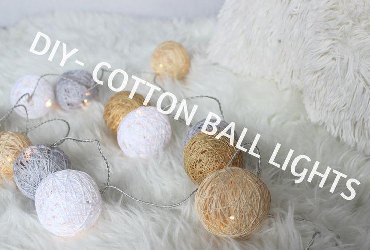 DIY - JAK ZROBIĆ COTTON BALL LIGHTS? :)