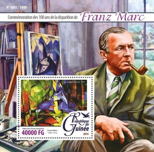 "GU16108b Franz Marc (100th anniversary of Franz Marc (1880-1916); ""Deer in the Forest"", 1914)"