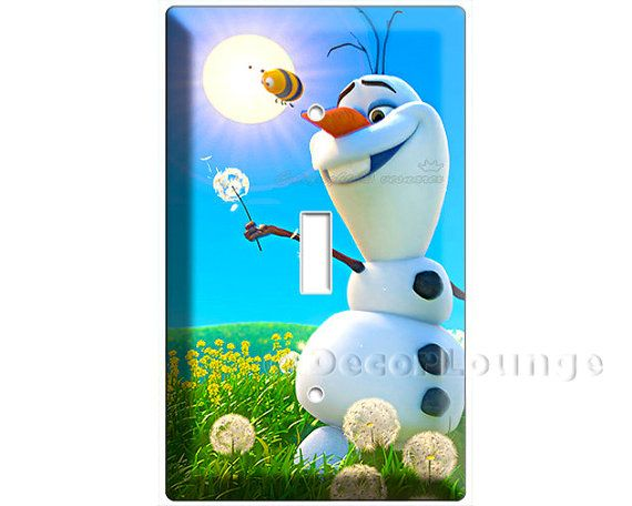 Funny snowman these Olaf Summer dreaming frozen single light switch cover wall plates children's bedroom living room decoration