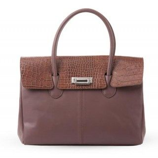 Celia geanta din piele naturala - maro