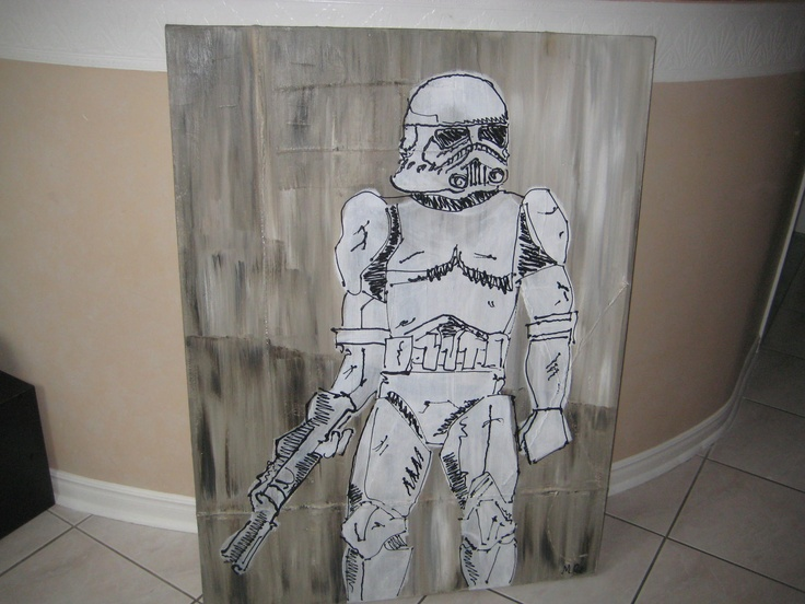 TK-421 painted by Michelle/Elaine for the Geek office decor