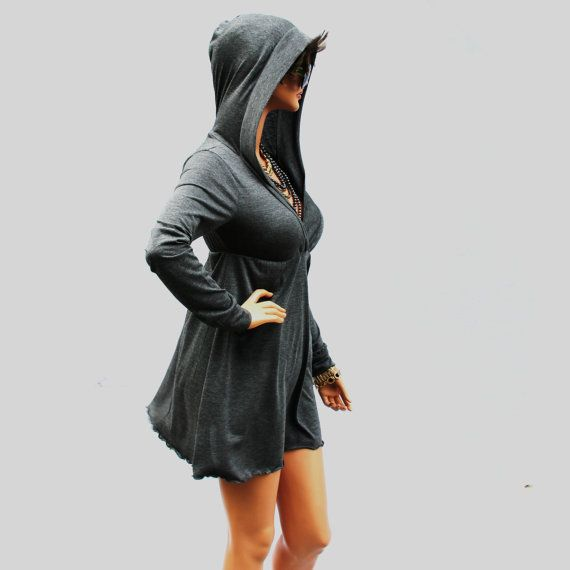 Hey, I found this really awesome Etsy listing at http://www.etsy.com/listing/103699842/grey-dress-hoodie-dress-party-dresswomen