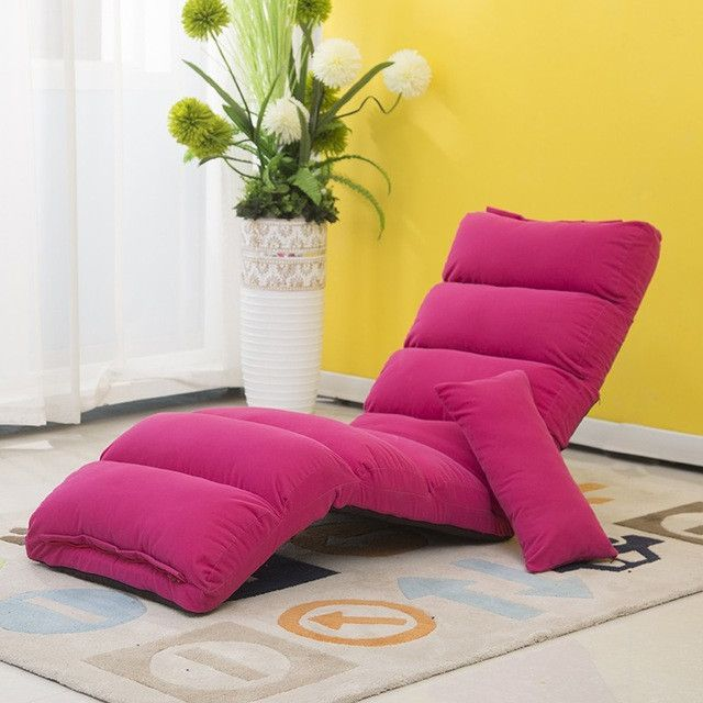Japanese Living Room Furniture 5 Colors Floor Seating Adjustable Foldable Upholstered Gaming Chaise Futon Sofa Lounge Chair