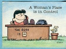 A woman's place is in control.                                                                                                                                                     More