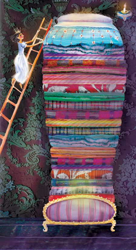 illustration princess and the pea - Google Search